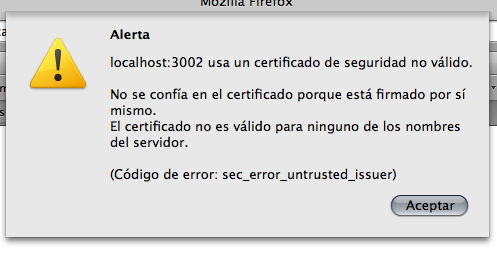 Firefox and self-signed SSL certificates · wincent com